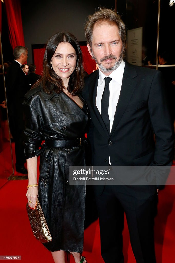 Actress Geraldine Pailhas and Christophe Thompson arrive for the 39th Cesar Film Awards 2014 at Theatre du Chatelet on February 28, 2014 in Paris, France.