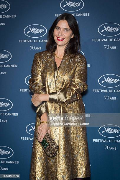 Actress Geraldine Pailhas attends the 'Cannes Film Festival 70th Anniversary Party' at Palais Des Beaux Arts on September 20 2016 in Paris France