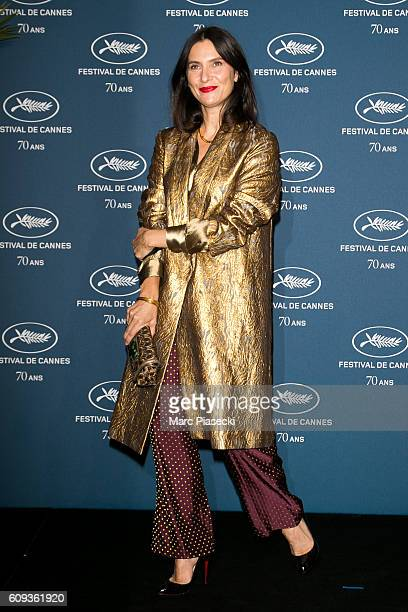 Actress Geraldine Pailhas attends the 'Cannes Film Festival 70th anniversary' Party at Palais Des Beaux Arts on September 20 2016 in Paris France