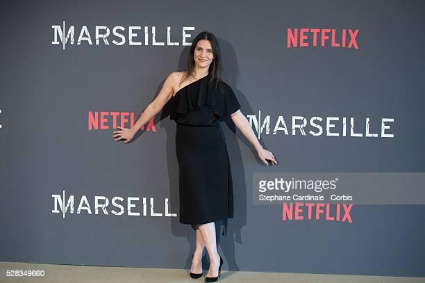 Actress Geraldine Pailhas attends the 'Marseille' Netflix TV Serie Wold Premiere At Palais Du Pharo In Marseille on May 4 2016 in Marseille France