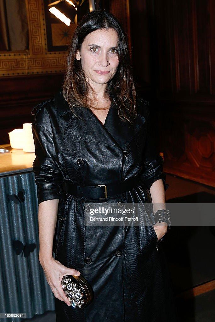 Actress Geraldine Pailhas, dressed in Lanvin - Designer Alber Elbaz pays tribute to Cesar Baldaccini by an Evening Pic-Nic at the Ecole Nationale Superieure des Beaux Arts de Paris on October 25, 2013 in Paris, France.