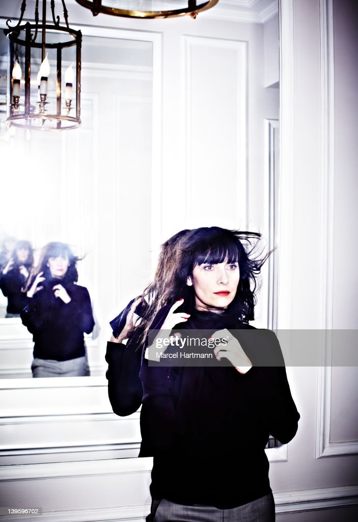 Actress Geraldine Pailhas is photographed for Self Assignment on February 14, 2012 in Paris, France. Thanks to the Hotel Hospes Lancaster for their welcome in the suite Signature Marlene Dietrich.