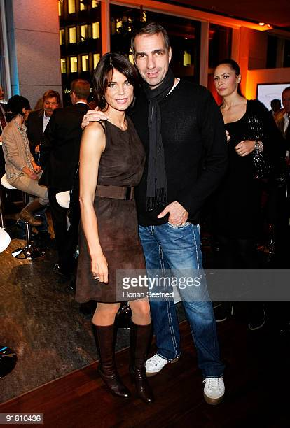 Actress Gerit Kling and her husband Stefan Henning attend the presentation of the new 'BMW 5er Gran Turismo' and 'BMW X1' at a BMW branch on October...