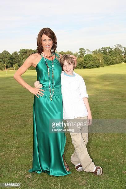 Actress Gerit Kling With Son Leon at BMW Golf Cup International 2007 at SportSpa Resort Ein Rosa Scharmützel in Berlin