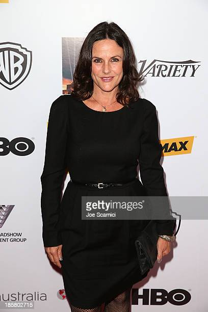 Actress Gia Carides arrives at the Australians in film benefit dinner at InterContinental Hotel on October 24 2013 in Century City California