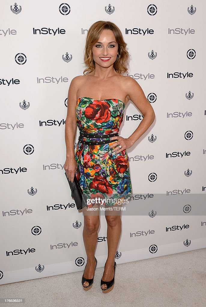 Actress <a gi-track='captionPersonalityLinkClicked' href=/galleries/search?phrase=Giada+De+Laurentiis&family=editorial&specificpeople=601210 ng-click='$event.stopPropagation()'>Giada De Laurentiis</a> attends the InStyle Summer Soiree held Poolside at the Mondrian hotel on August 14, 2013 in West Hollywood, California.
