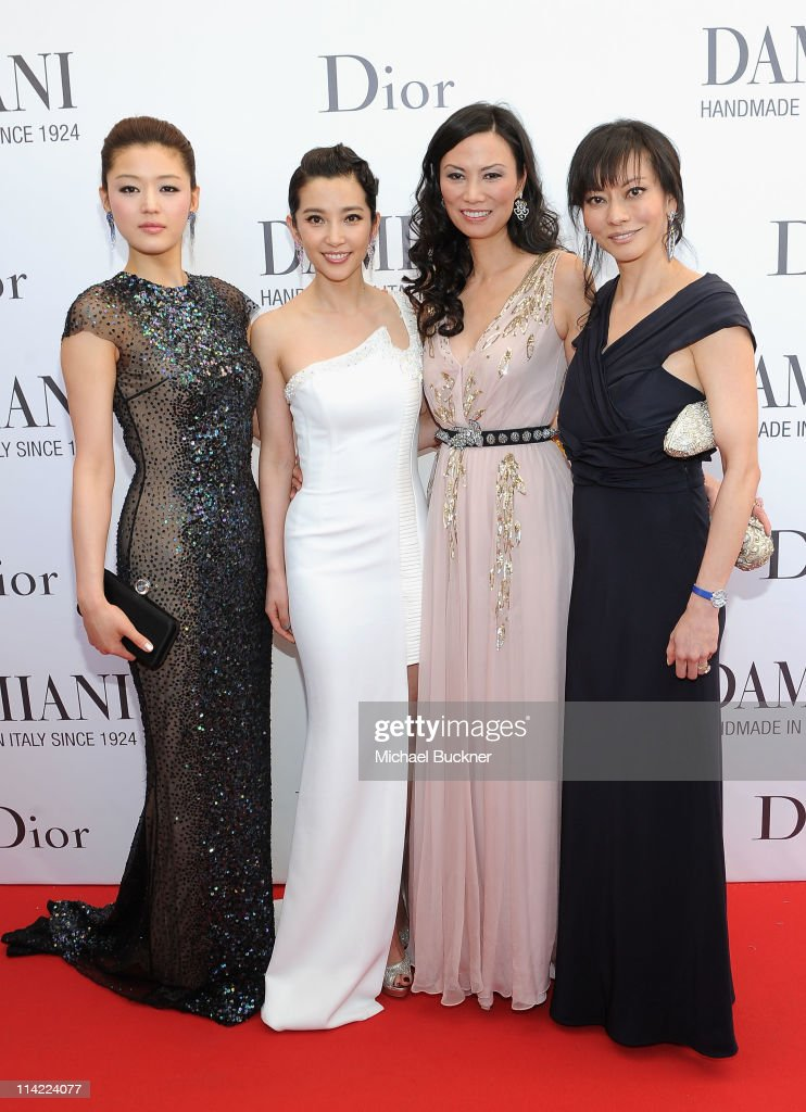 Actress Gianna Jun actress Bing Bing Li producer Wendi Deng Murdoch and producer Florence Low Sloan attend the cocktail reception for 'Snow Flower...