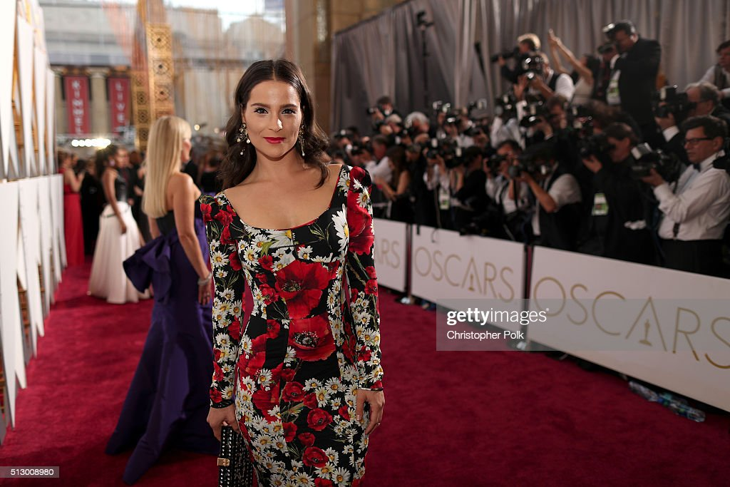 Actress Gianna Simone attends the 88th Annual Academy Awards at Hollywood & Highland Center on February 28, 2016 in Hollywood, California.