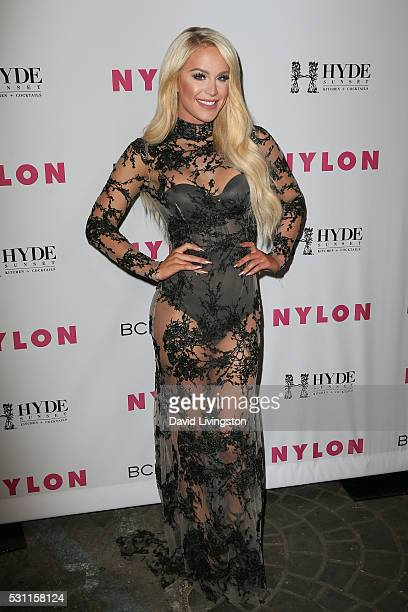 Actress Gigi Gorgeous arrives at NYLON and BCBGeneration's Annual Young Hollywood May Issue Event at HYDE Sunset Kitchen Cocktails on May 12 2016 in...