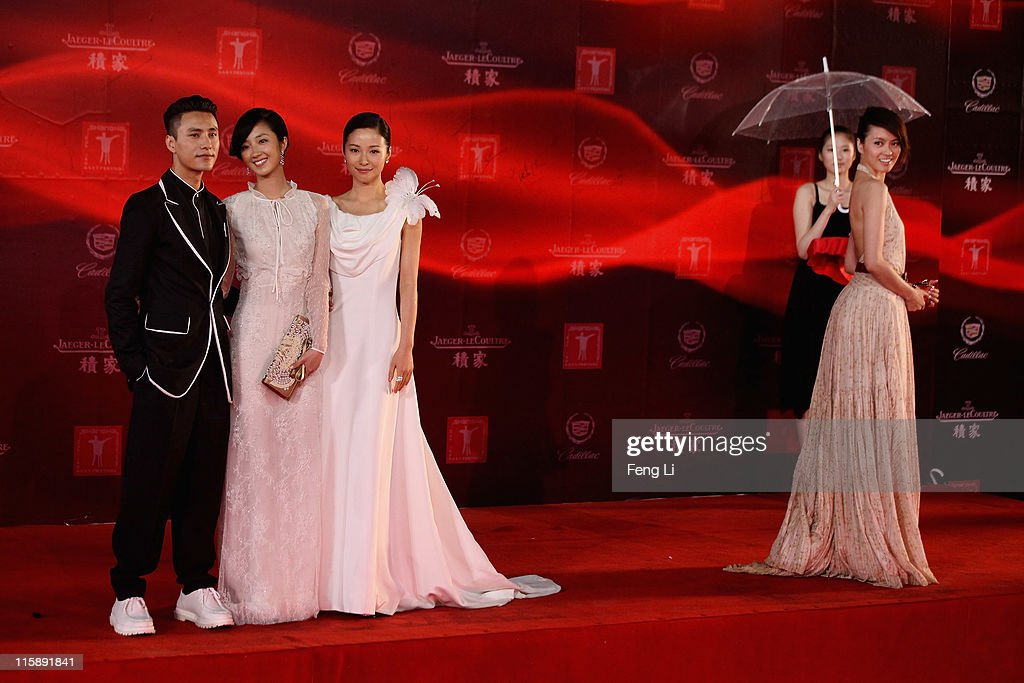 Actress Gigi Leung, Jiang Yiyan, Kwai Lun-mei and actor Chen Kun arrive at the opening ceremony of the 14th Shanghai International Film Festival on June 11, 2011 in Shanghai, China.