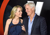Actress Gillian Anderson and executive producer Chris Carter attend the premiere of Fox's 'The XFiles' at California Science Center on January 12...