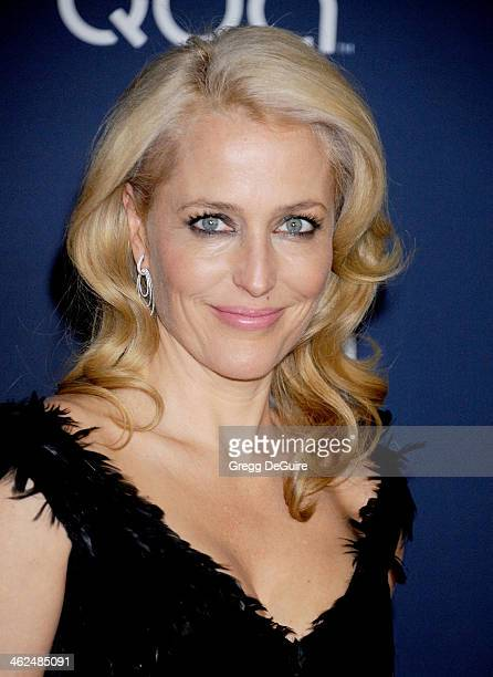 Actress Gillian Anderson arrives at the 2014 InStyle And Warner Bros 71st Annual Golden Globe Awards postparty at The Beverly Hilton Hotel on January...