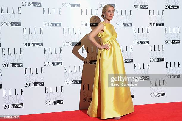 Actress Gillian Anderson arrives for The Elle Style Awards 2012 at The Savoy Hotel on February 13 2012 in London England
