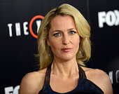 Actress Gillian Anderson arrives for the Premiere Of Fox's 'The XFiles' held at California Science Center on January 12 2016 in Los Angeles California