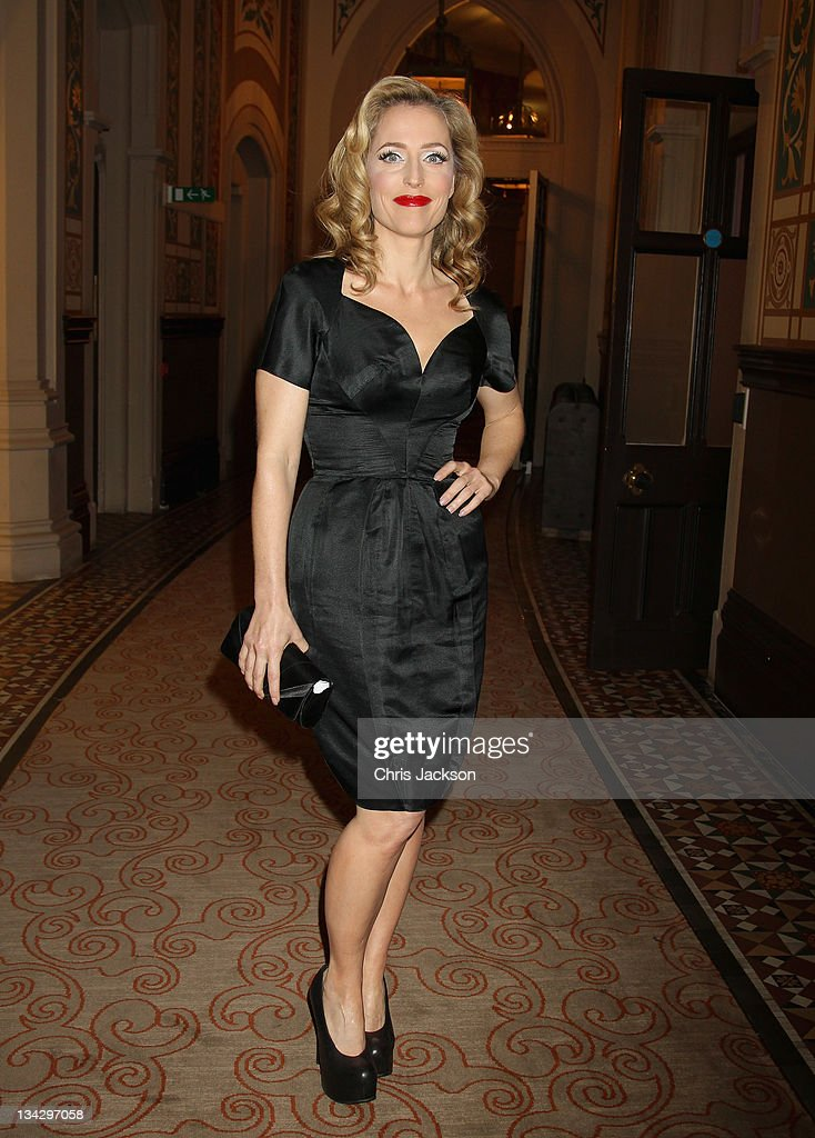 Actress Gillian Anderson attends Hidden Gems Photography Gala Auction in support of Variety Club at St Pancras Renaissance Hotel on November 30, 2011 in London, England.