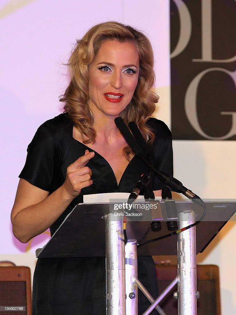 Actress <a gi-track='captionPersonalityLinkClicked' href=/galleries/search?phrase=Gillian+Anderson&family=editorial&specificpeople=202894 ng-click='$event.stopPropagation()'>Gillian Anderson</a> attends Hidden Gems Photography Gala Auction in support of Variety Club at St Pancras Renaissance Hotel on November 30, 2011 in London, England.