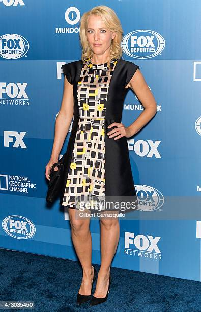 Actress Gillian Anderson attends the 2015 FOX Programming Presentation at Wollman Rink Central Park on May 11 2015 in New York City