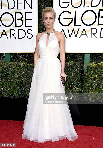 Actress Gillian Anderson attends the 74th Annual Golden Globe Awards at The Beverly Hilton Hotel on January 8 2017 in Beverly Hills California