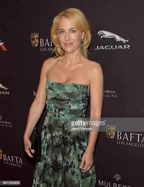 Actress Gillian Anderson attends the BAFTA Los Angeles Tea Party at The Four Seasons Hotel Los Angeles At Beverly Hills on January 10 2015 in Los...