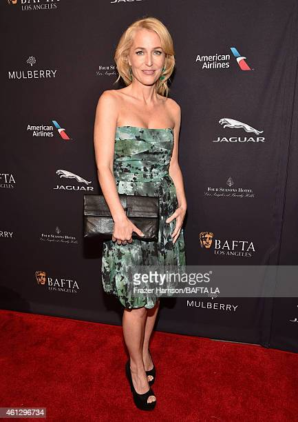 Actress Gillian Anderson attends the BAFTA Los Angeles Tea Party at The Four Seasons Hotel Los Angeles At Beverly Hills on January 10 2015 in Beverly...