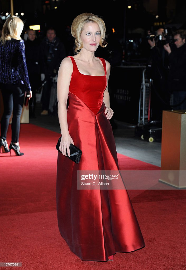 Actress Gillian Anderson attends the 'Les Miserables' World Premiere at the Odeon Leicester Square on December 5, 2012 in London, England.