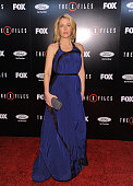 Actress Gillian Anderson attends the premiere of Fox's 'The XFiles' at California Science Center on January 12 2016 in Los Angeles California