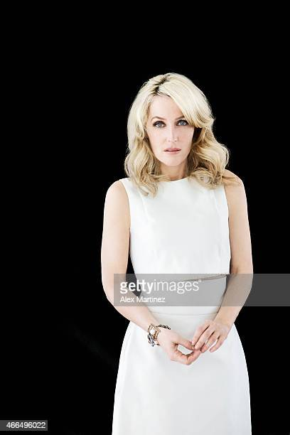 Actress Gillian Anderson is photographed for Chicago Sun Times Sunday Splash on March 14 2014 in New York City PUBLISHED IMAGE