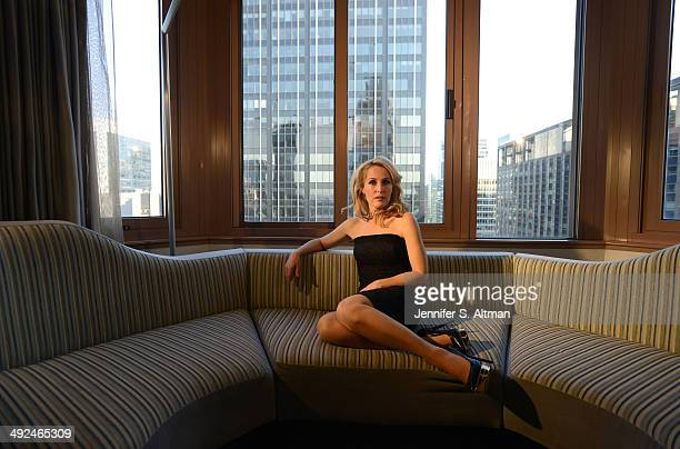 Actress Gillian Anderson is photographed for Los Angeles Times on March 14 2014 in New York City