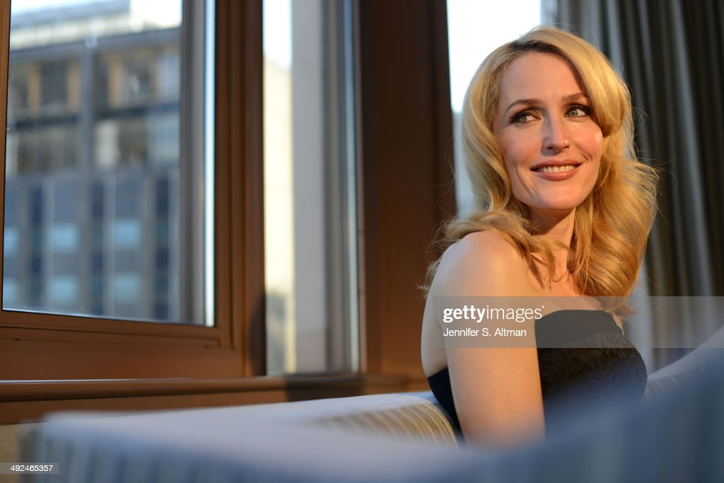 Actress Gillian Anderson is photographed for Los Angeles Times on March 14, 2014 in New York City. PUBLISHED