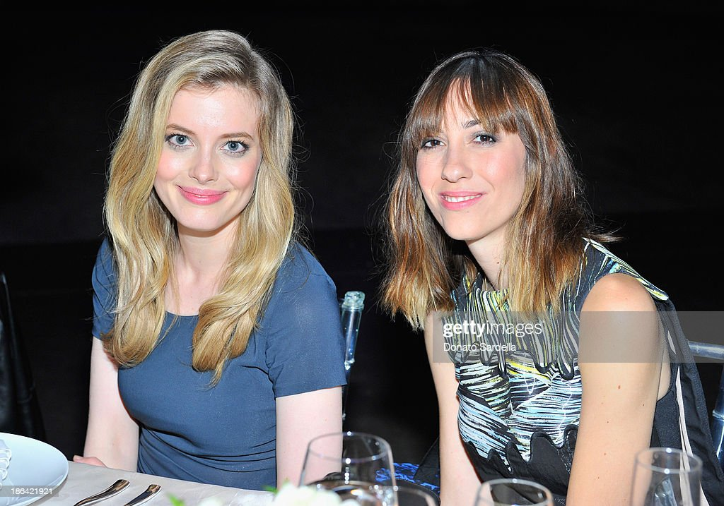 Actress <a gi-track='captionPersonalityLinkClicked' href=/galleries/search?phrase=Gillian+Jacobs&family=editorial&specificpeople=4836757 ng-click='$event.stopPropagation()'>Gillian Jacobs</a> (L) and director <a gi-track='captionPersonalityLinkClicked' href=/galleries/search?phrase=Gia+Coppola&family=editorial&specificpeople=3099216 ng-click='$event.stopPropagation()'>Gia Coppola</a> attend the Kenzo Kalifornia launch dinner and party at The Berrics on October 30, 2013 in Los Angeles, California.