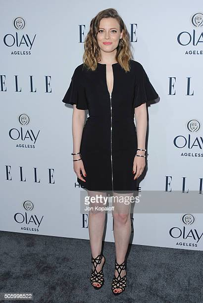 Actress Gillian Jacobs arrives at ELLE's 6th Annual Women In Television Dinner at Sunset Tower Hotel on January 20 2016 in West Hollywood California