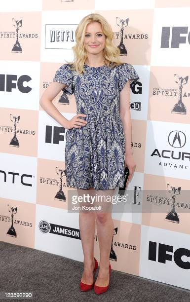 Actress Gillian Jacobs arrives at the 2011 Film Independent Spirit Awards held at Santa Monica Beach on February 26 2011 in Santa Monica California