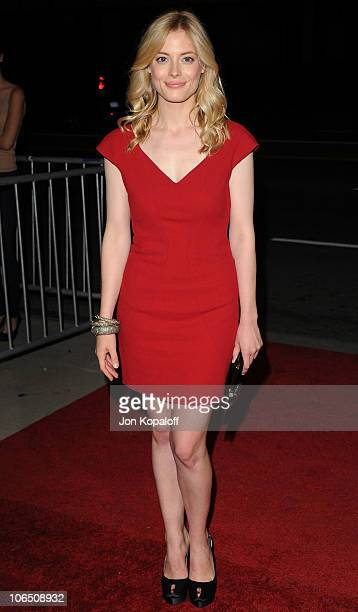 Actress Gillian Jacobs arrives at the Los Angeles Premiere '127 Hours' at AMPAS Samuel Goldwyn Theater on November 3 2010 in Beverly Hills California