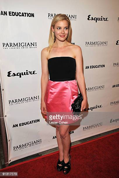 Actress Gillian Jacobs arrives on the red carpet at the Los Angeles premiere of 'An Education' at the Egyptian Theatre on October 1 2009 in Hollywood...