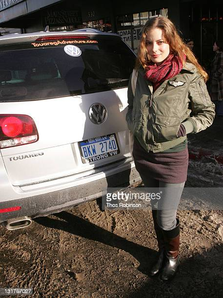 Actress Gillian Jacobs at Volkswagen on January 22 2008 in Park City Utah