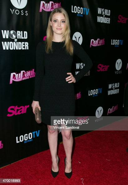 Actress Gillian Jacobs attends Logo's 'RuPaul's Drag Race' season 6 premiere party at Hollywood Roosevelt Hotel on February 17 2014 in Hollywood...
