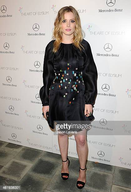 Actress Gillian Jacobs attends the Art of Elysium's 7th annual Heavan gala at Skirball Cultural Center on January 11 2014 in Los Angeles California