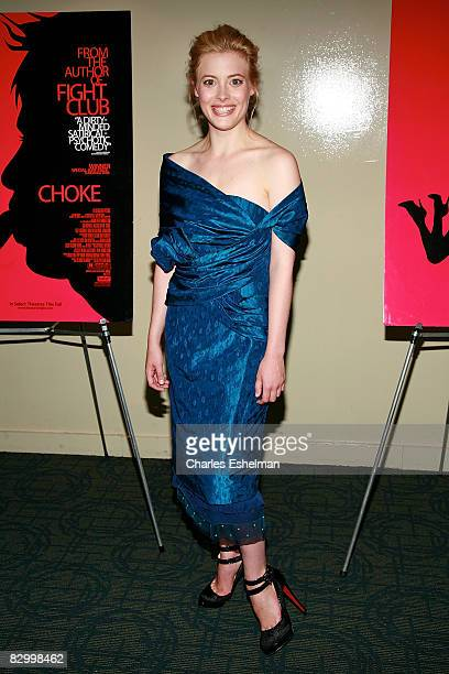 Actress Gillian Jacobs attends the premiere of 'Choke' at the Sunshine Cinema on September 24 2008 in New York City