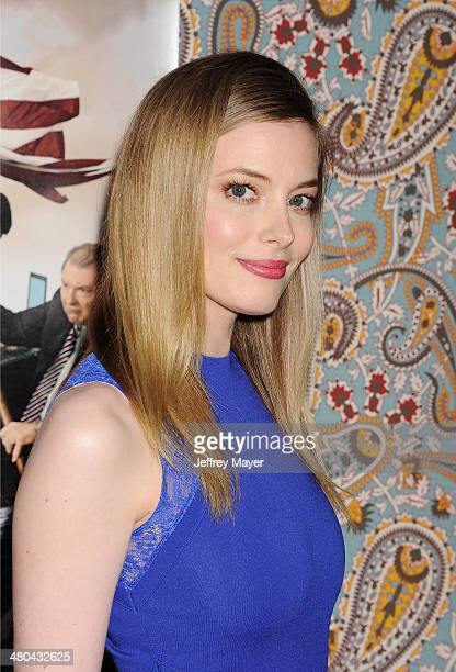 Actress Gillian Jacobs attends the premiere of HBO's 'Veep' 3rd season held at Paramount Studios on March 24 2014 in Hollywood California