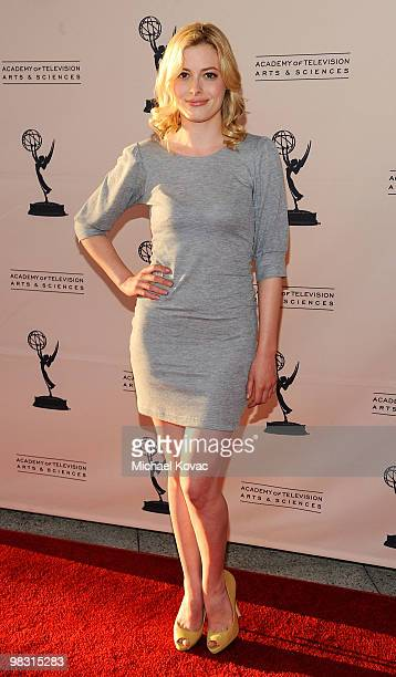 Actress Gillian Jacobs attends the Television Academy's Diversity Committee Presents Night School With 'Community' at Leonard H Goldenson Theatre on...
