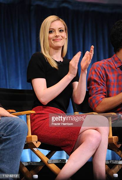 Actress Gillian Jacobs on stage at the Paley Center For Media's Paleyfest 2011 event honoring 'Community' at the Saban Theater on March 15 2011 in...