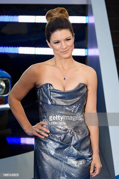 US actress Gina Carano arrives at the world premiere of 'Fast and Furious 6' at the Empire cinema in Leicester Square in central London on May 7 2013...