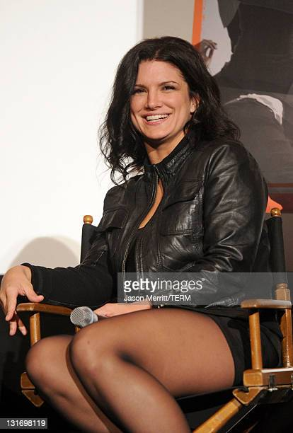 Actress Gina Carano attends the AFI FEST 2011 Presented By Audi secret screening of 'Haywire' held at Grauman's Chinese Theatre on November 6 2011 in...