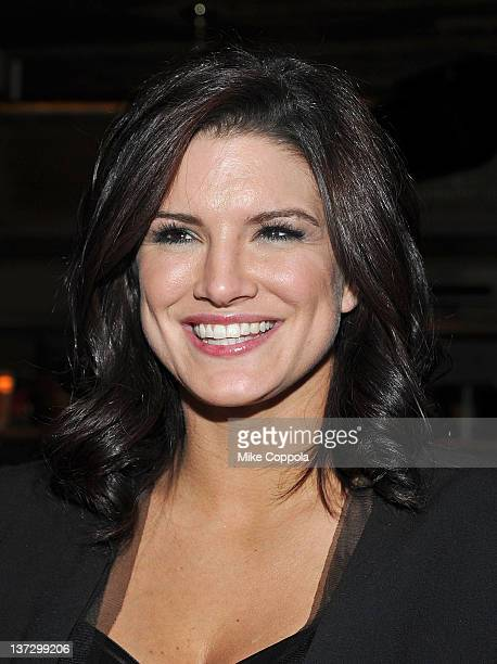 Actress Gina Carano attends the Cinema Society Blackberry Bold screening after party for 'Haywire' at Sons of Essex on January 18 2012 in New York...