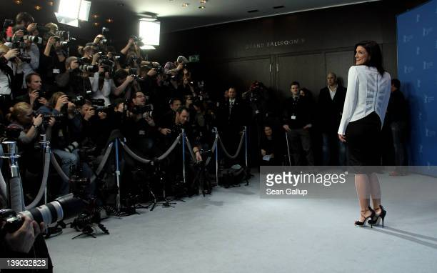 Actress Gina Carano attends the 'Haywire' Photocall during day seven of the 62nd Berlin International Film Festival at the Grand Hyatt on February 15...
