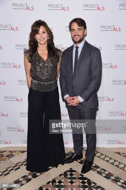 Actress Gina Gershon and event host actor Vincent Piazza attend the 19th Annual Project ALS Benefit gala at Cipriani 42nd Street on October 25 2017...