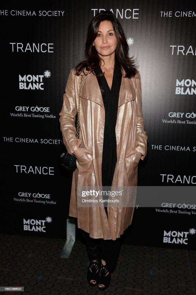 Actress <a gi-track='captionPersonalityLinkClicked' href=/galleries/search?phrase=Gina+Gershon&family=editorial&specificpeople=203099 ng-click='$event.stopPropagation()'>Gina Gershon</a> attends Fox Searchlight Pictures' premiere of 'Trance' hosted by the Cinema Society & Montblanc at SVA Theater on April 2, 2013 in New York City.