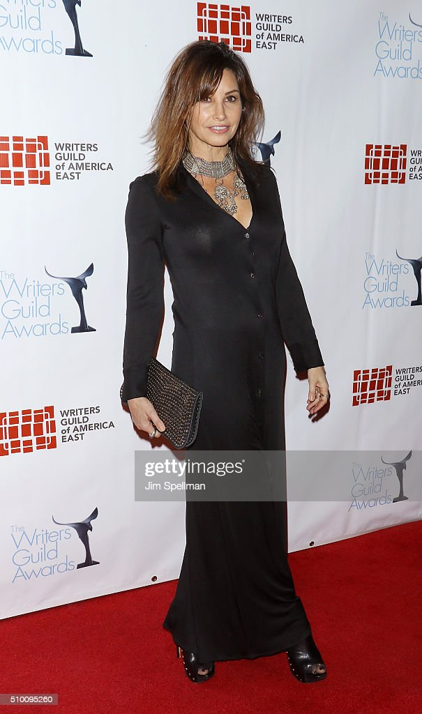 Actress Gina Gershon attends the 2016 Writers Guild Awards New York ceremony at The Edison Ballroom on February 13, 2016 in New York City.