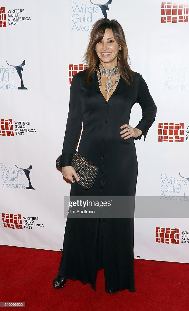 Actress <a gi-track='captionPersonalityLinkClicked' href=/galleries/search?phrase=Gina+Gershon&family=editorial&specificpeople=203099 ng-click='$event.stopPropagation()'>Gina Gershon</a> attends the 2016 Writers Guild Awards New York ceremony at The Edison Ballroom on February 13, 2016 in New York City.