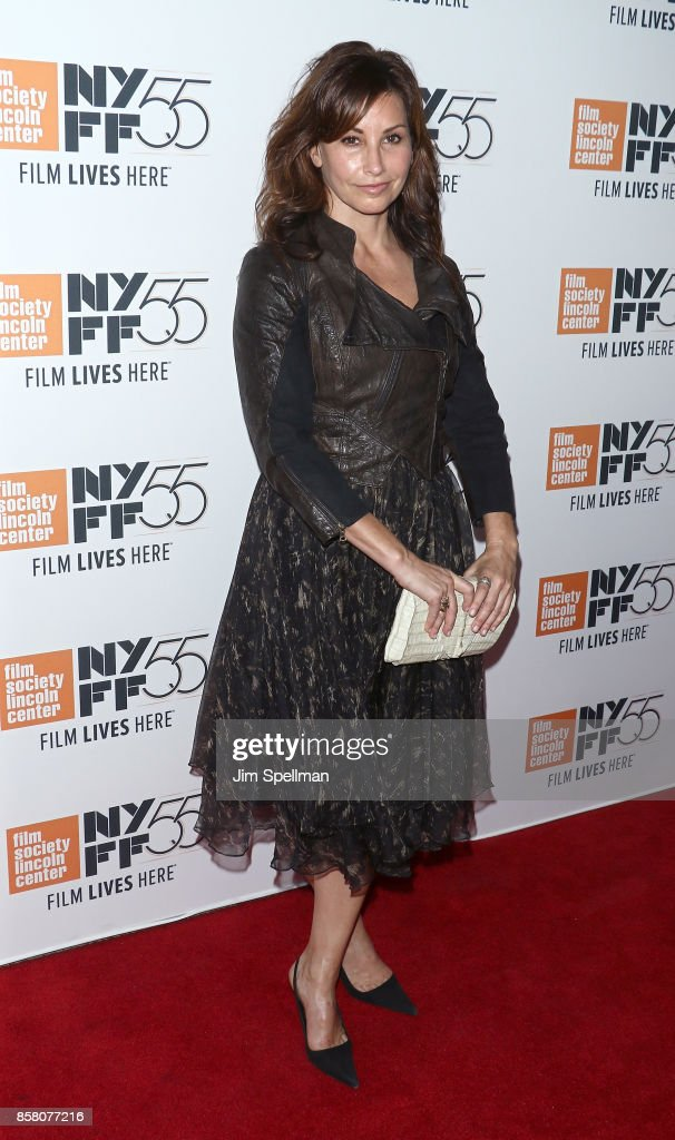 Actress Gina Gershon attends the 55th New York Film Festival 'Spielberg' premiere at Alice Tully Hall on October 5, 2017 in New York City.